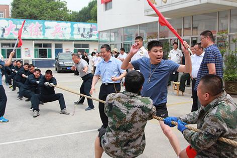 """滨州金盾守护押运有限公司举行""""庆八一""""拔河、篮球比赛"""